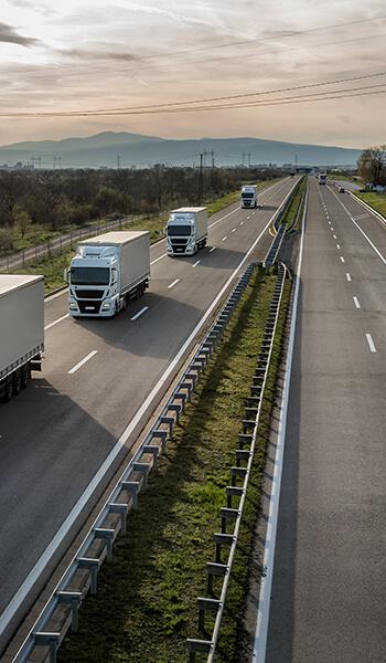 Ligne de camions routiers